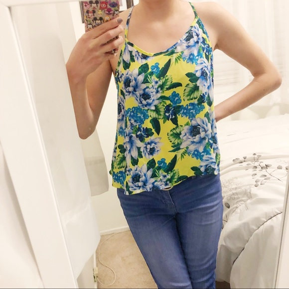 Forever 21 Foral Tank Top
